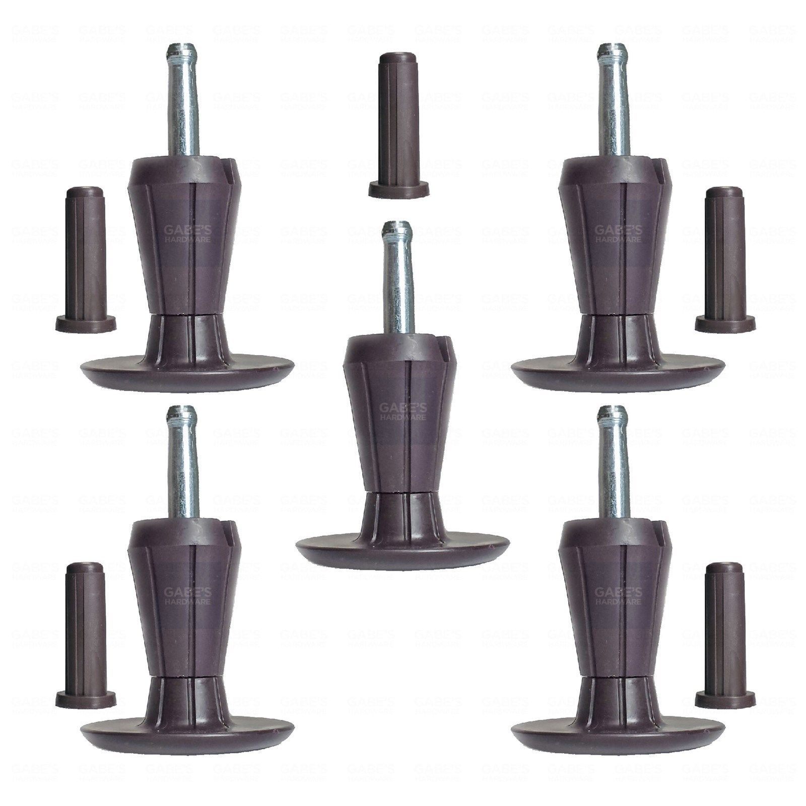 Primary image for SET OF 5, TWO-PART STEM GLIDES BED FRAME FEET LEGS - SOCKET INSERTS INCLUDED