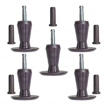 SET OF 5, TWO-PART STEM GLIDES BED FRAME FEET LEGS - SOCKET INSERTS INCL... - $17.23