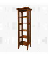 Cherry Finish Wood Mission Style Shelf or Plant Stand - Free Shipping - $47.04