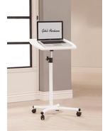 Durable White MDF Top Adjustable Laptop & Notebook Stand With Strong Met... - $88.11