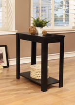 Black Finish Accent Chairside Table with Shelf- Free shipping - $62.40