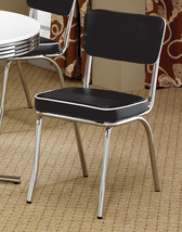 Set of 6 Black & White Color Retro 50s Style Diner Chrome Chairs Free Shipping - $386.10