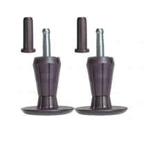 SET OF 2, TWO-PART STEM GLIDES BED FRAME FEET LEGS - SOCKET INSERTS INCL... - $8.59