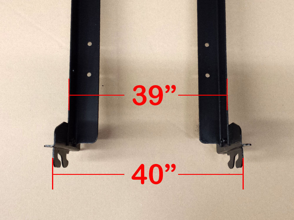 Twin Size Hook on Bed Frame Rails with Cross Beam and Leg image 4