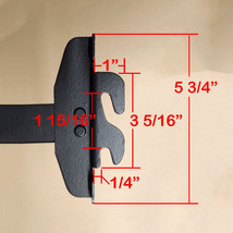 Twin Size Hook on Bed Frame Rails with Cross Beam and Leg image 3