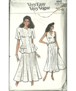 Vogue Sewing Pattern 9942 Misses Womens Dress T... - $14.98