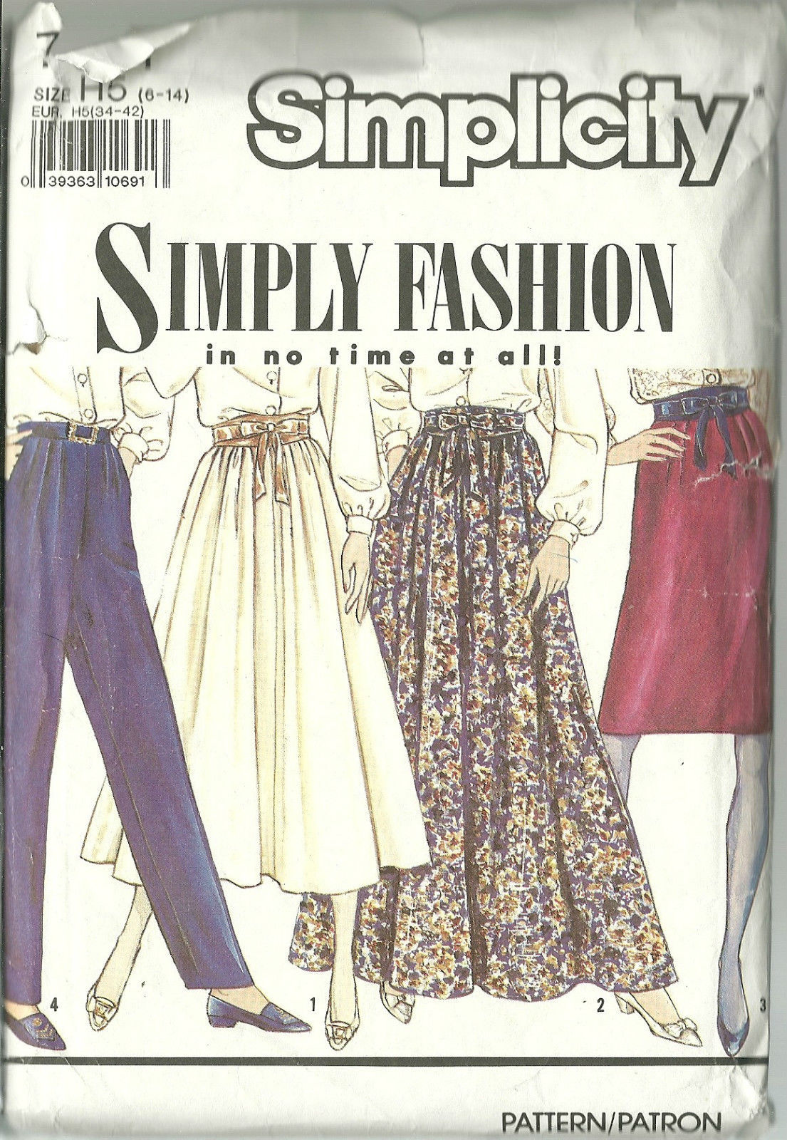 Simplicity Sewing Pattern 7021 Misses Womens Skirt Pants Sizes 6 8 10 12 Used