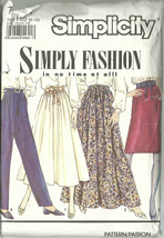Simplicity Sewing Pattern 7021 Misses Womens Skirt Pants Sizes 6 8 10 12 Used - $12.98