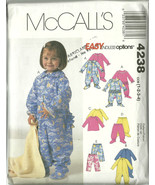McCall's Sewing Pattern 4238 Toddler Jumpsuit P... - $9.98