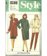 Style Sewing Pattern 3156 Misses Womens Coat Ja... - $12.98