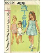 Simplicity Sewing Pattern 6039 Girls Dress Top ... - $14.98