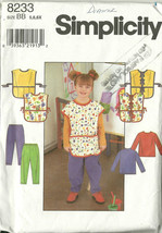 Simplicity Sewing Pattern 8233 Girls Smock Top Pants Size 5 6 Used - $9.98