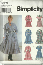Simplicity Sewing Pattern 8729 Misses Womens Dress Sizes 12 14 16 Used - $9.99