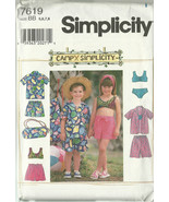 Simplicity Sewing Pattern 7619 Childrens Shorts... - $12.97