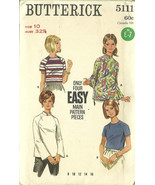 Butterick Sewing Pattern 5111 Misses Womens Blo... - $12.98