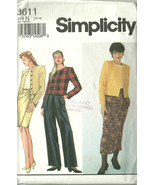 Simplicity Sewing Pattern 8611 Misses Womens Ja... - $10.98