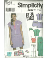 Simplicity Sewing Pattern 5078 Girls Juniors To... - $9.98