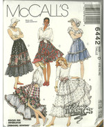 McCall's Sewing Pattern 6442 Misses Womens Tier... - $9.98