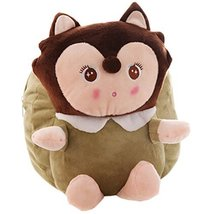 Lovely Fox Dolls Toddler Backpack Infant Villus Knapsack Cute Baby Bag 1-3Y