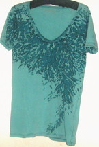 WOMEN'S BLUE PRINTED  TOP SIZE S - $8.00