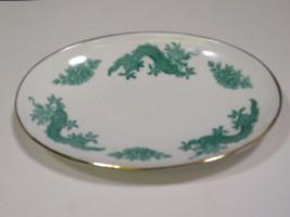 Hammersley for Bloomingdales Green Dragon Oval Dish Pin Tray Bone China ... - €40,73 EUR