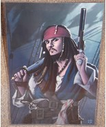 Pirates Of The Caribbean Jack Sparrow Glossy Pr... - $24.99