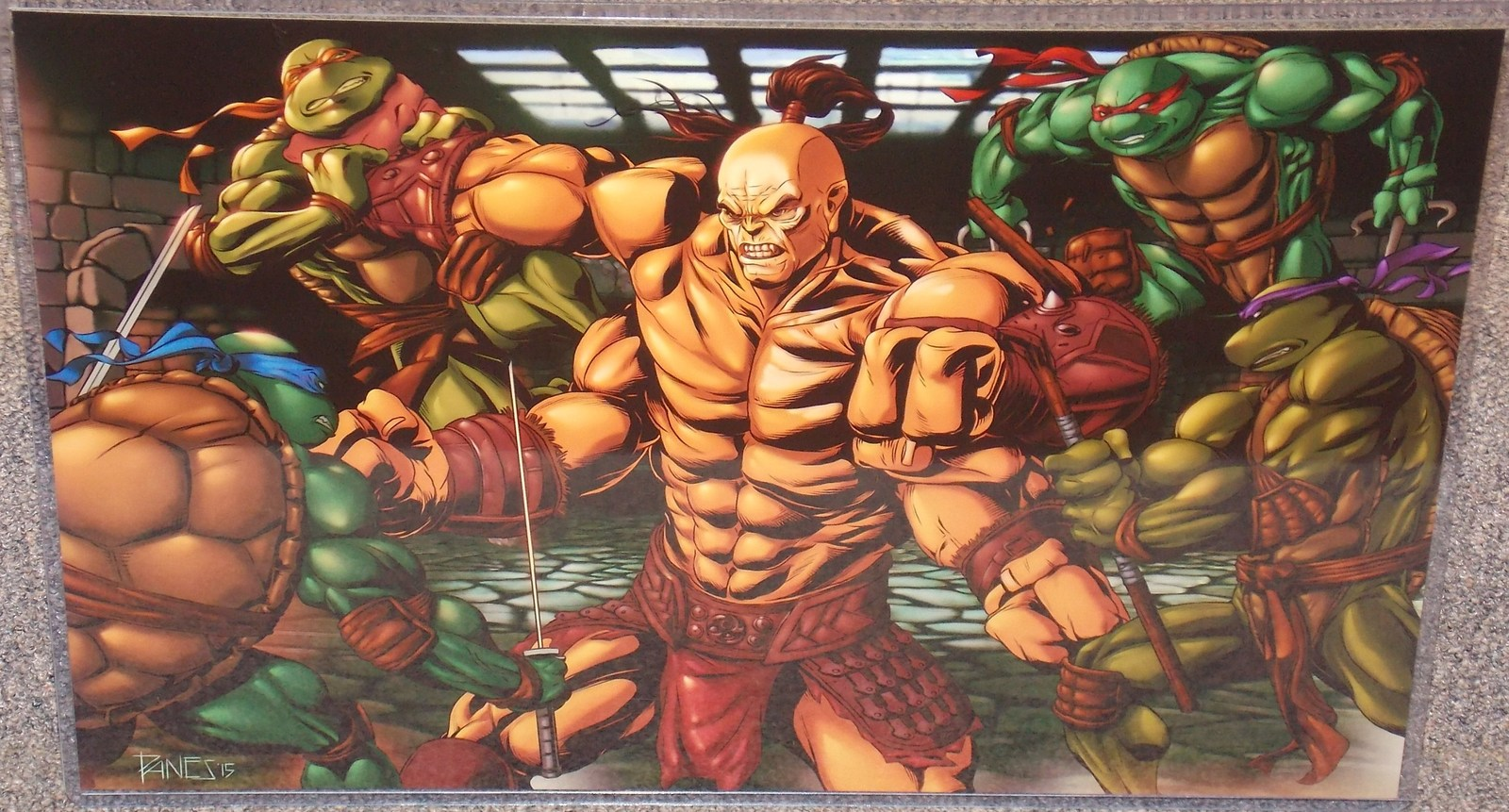 Primary image for TMNT vs Mortal Kombat Goro Glossy Print 11 x 17 In Hard Plastic Sleeve