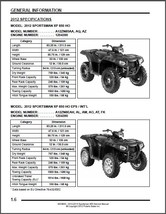 2012-2013 Polaris Sportsman XP 850 HO EPS Touring Service Repair Manual CD - $12.00