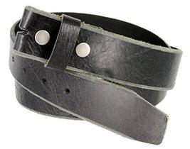 Genuine One Piece Full Grain Vintage Buffalo Leather Belt Strap - $16.82