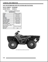 2007 Polaris Sportsman 700 MV ATV Service Repair Manual CD - $12.00