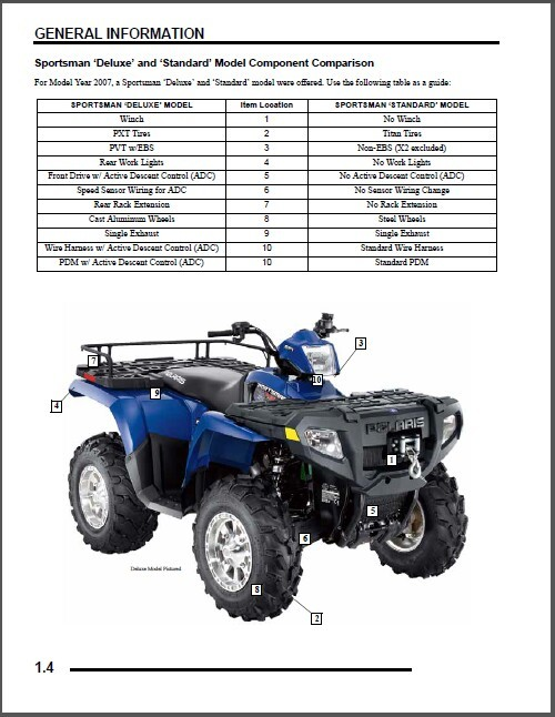 2007 polaris sportsman 450 500 efi x 2 and 50 similar items sciox Choice Image