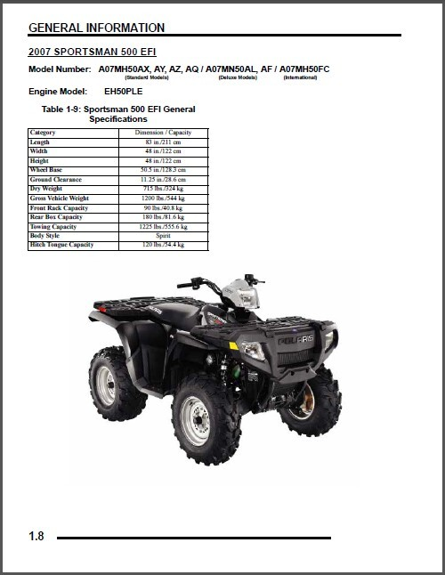 2007 polaris sportsman 450 500 efi x 2 and 50 similar items 4 thumb200 sciox Choice Image