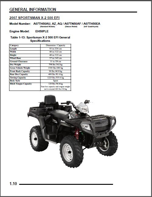 2007 polaris sportsman 450 500 efi x 2 and 50 similar items 5 thumb200 sciox Choice Image