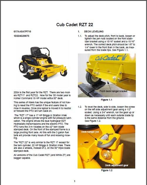 cub cadet rzt zero turn rider lawn mower and 26 similar items rh bonanza com cub cadet rzt s service manual cub cadet rzt 50 service manual pdf