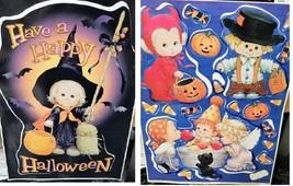 HALLOWEEN PRECIOUS MOMENTS Window Decals Stickers Vinyl Wall Decoration ... - $12.82