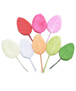 40pcs/lot Artificial Flowers Leaves Mini Simulation Leaf Shape For Weddi... - $3.99