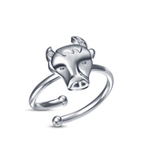 RD White Sim CZ White Gold Over 925 Silver Taurus Zodiac Sign Adjustable... - $9.99