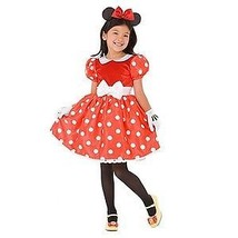 Disney Store Original Style Minnie Mouse Costume RED Dress with Gloves N... - $29.95+
