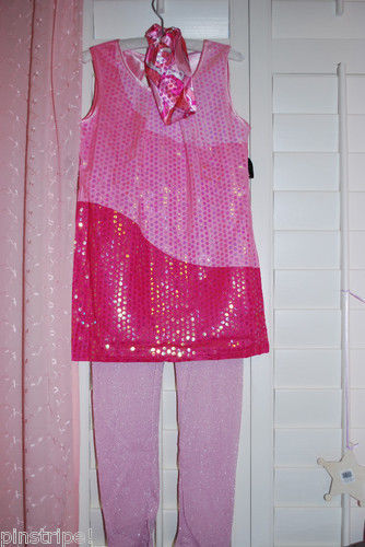 Disney Hannah Montana Costume NWT Concert Dress Pink