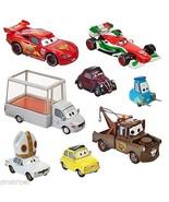 Disney Pixar Cars Holy Moly Die Cast Set 8 PC Pope Mobile Porta Corsa Fr... - $82.86