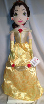 "Disney Store Exclusive Princess Belle Golden Plush Holiday Rag Doll 16"" ... - $16.76"