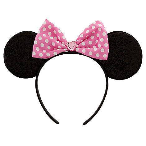 Pink Minnie Mouse Ears Costume Accessory Headband Disney Store PINK PINK PINK