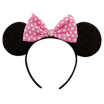 Pink Minnie Mouse Ears Costume Accessory Headband Disney Store PINK PINK PINK - $21.56