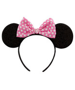 Pink Minnie Mouse Ears Costume Accessory Headba... - $21.56