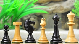 "The Staunton Series Chess Set in Ebony & Box wood - 4.01"" King S1271 - $307.99"