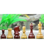 Reproduction 1950 Dubrovnik Bobby Fischer Chess Set in Bud Rose/Box Wood... - $281.99