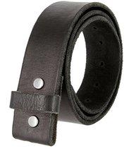 """BS001 Vintage Genuine Leather Belt Strap Without Slot Hole 1.5"""" Black 42 - $33.60"""