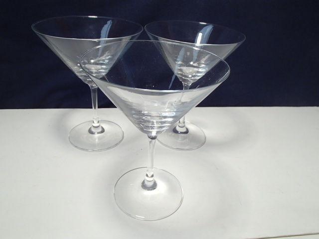 3 Schott Zwiesel Martini Stems~~nice ones~~signed