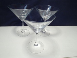3 Schott Zwiesel Martini Stems~~nice ones~~signed - $19.95