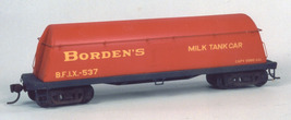 Funaro & Camerlengo HO Borden's Milk Tank Car , with yellow decals, kit 1011 image 2
